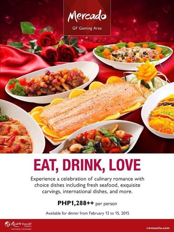 Valentine's Day 2015 at Resorts World Manila - Mercado