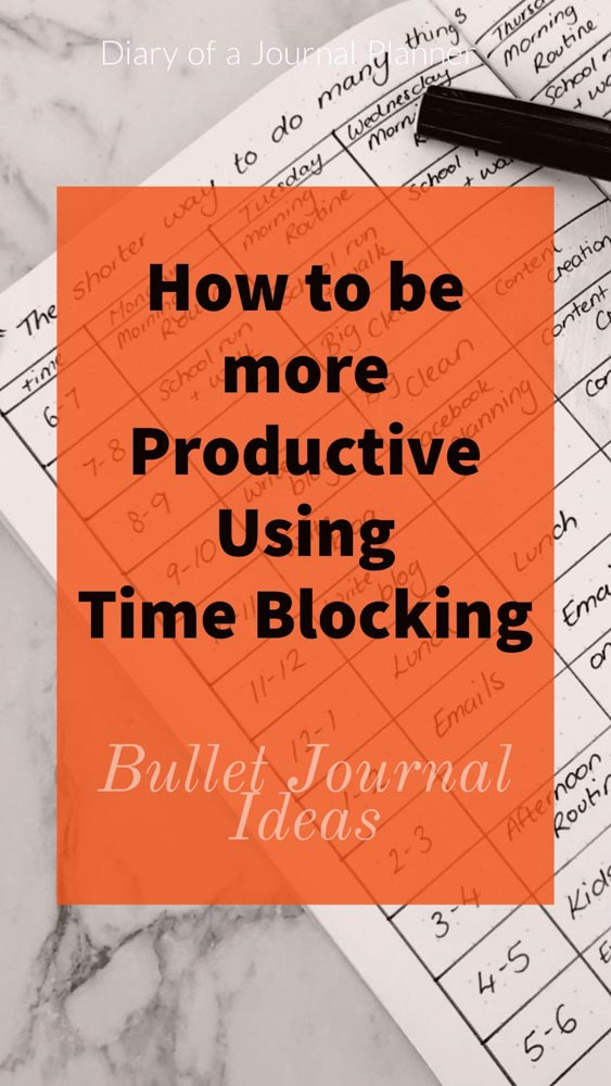 How to do Time Blocking With Bullet Journal. Find our Productivity Bullet Journal Spreads and brilliant productivity hacks.