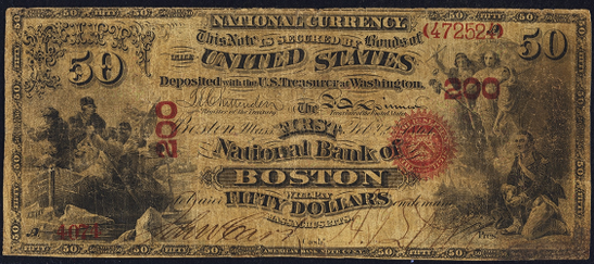 1863 Fifty Dollar Original Series National Bank Note