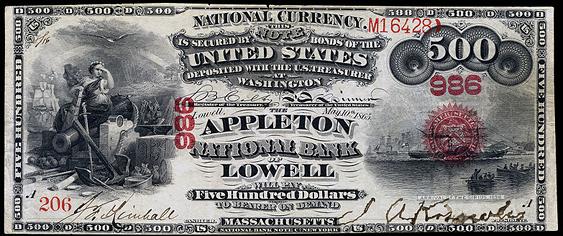 1863 $500