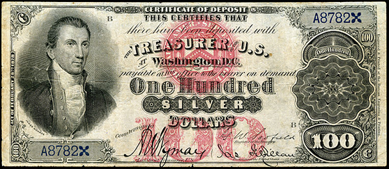 1878 One Hundred Dollar Silver Certificate