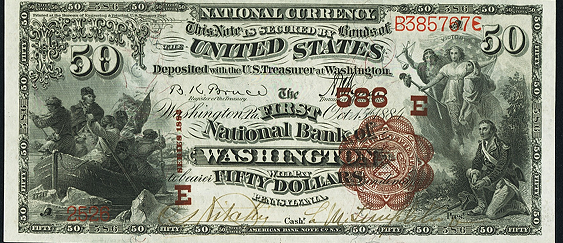 1882 $50 Brown Back - Front