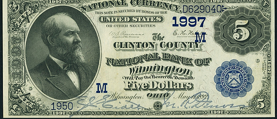 1882 \$5 Date Back - Front
