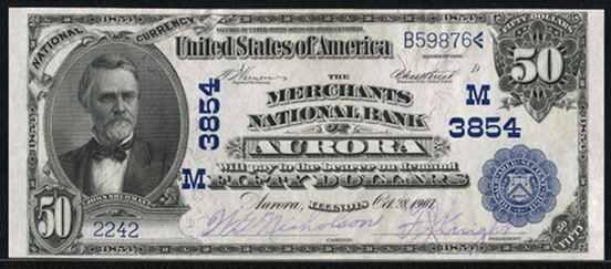 1902 \$50 Date Back - Front