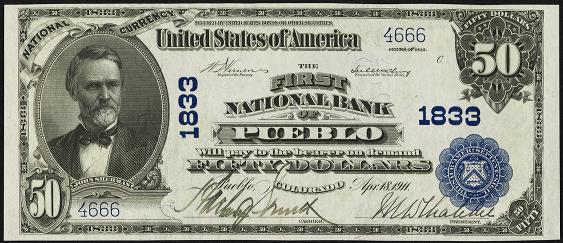 1902 \$50 Plain Back - Front