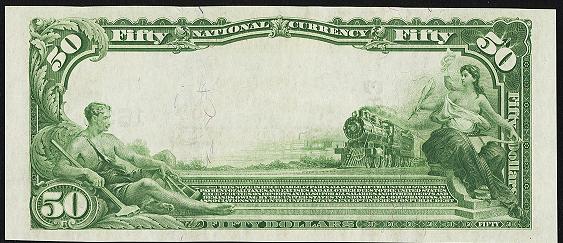 1902 \$50 Plain Back - Back