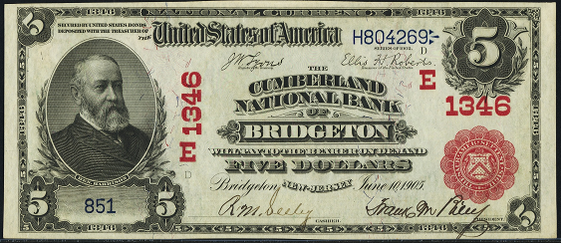 1902 \$5 Red Seal - Front