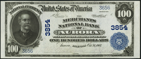 1902 \$100 Date Back - Front