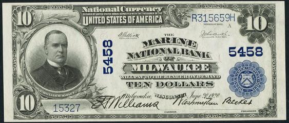 1902 \$10 Plain Back - Front