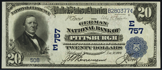 1902 \$20 Date Back - Front