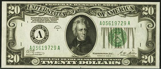 1928b Twenty Dollar Federal Reserve Note