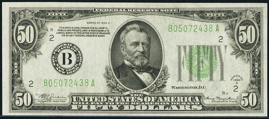 1934a Fifty Dollar Federal Reserve Note