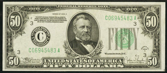 1934c Fifty Dollar Federal Reserve Note