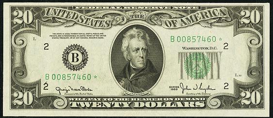 1950c Twenty Dollar Federal Reserve Note