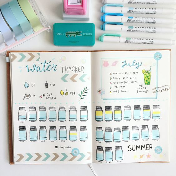Track your water intake with a bullet journal