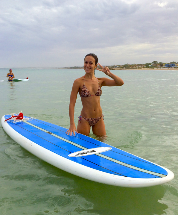 Girl With Stand Up Paddle Boarding