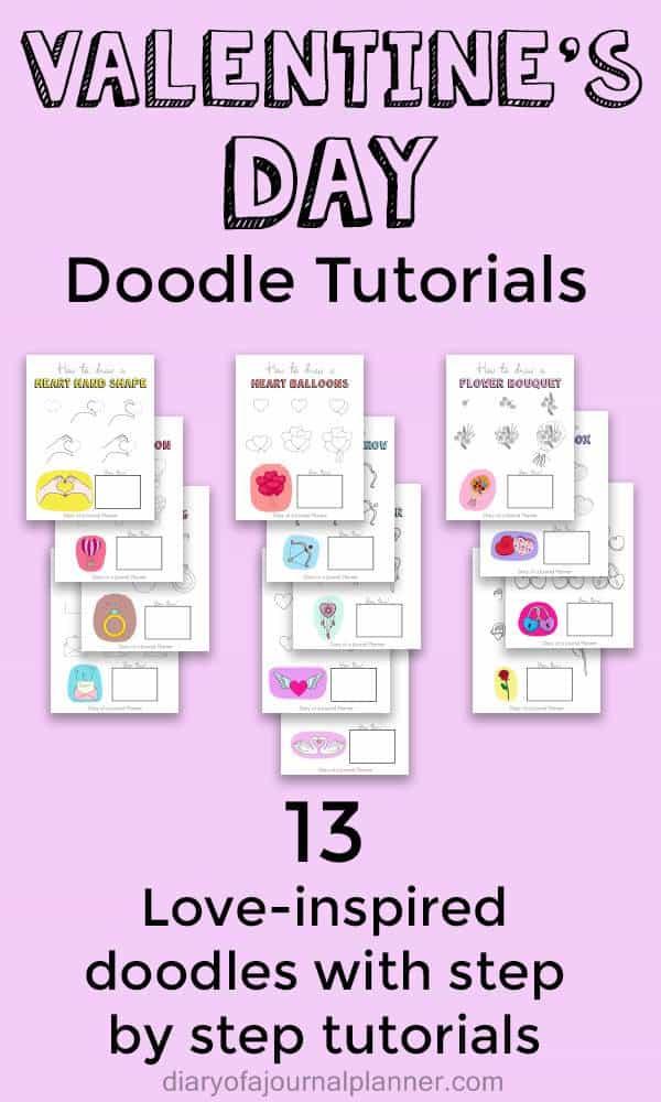 Valentine's day doodle tutorials
