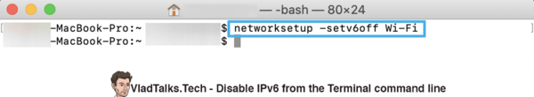 Disable IPv6 on Mac - Terminal command line