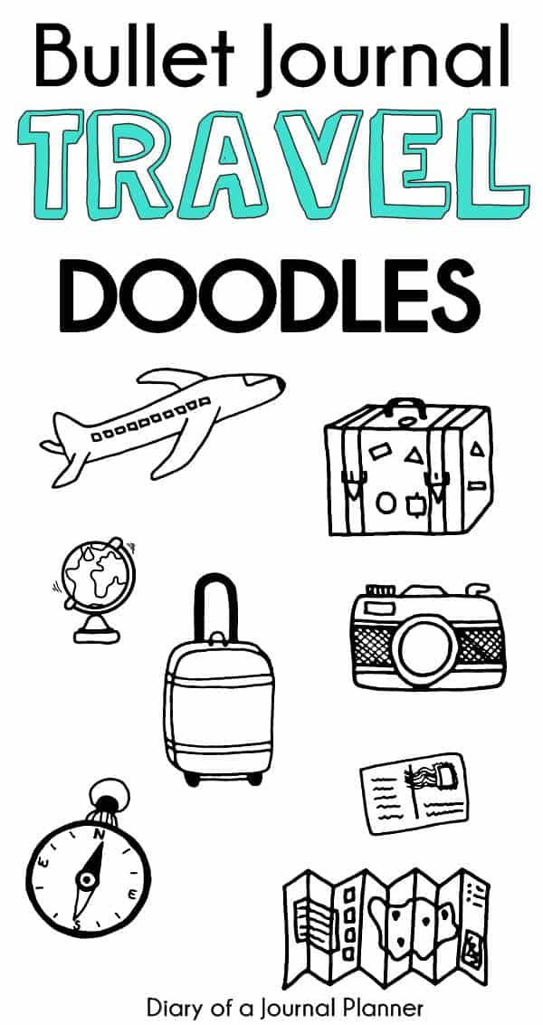 travel doodle art