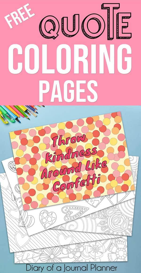 Don't know how to make your own coloring pages with words printable? We have got you covered. 20 inspirational and motivation quotes coloring pages with saying for adults and kids about life, love, happiness, success, gratitude and fun. Download and print now your coloring quotes. #coloring #coloringpages #coloringbooks #coloringsheets #coloringpagesforkids #colouring #colouringbook #colouringpages #colouringpencils #quotes #quoteoftheday #quotesoftheday #quotesinspirational #inspirationalquotes #inspirationalwords