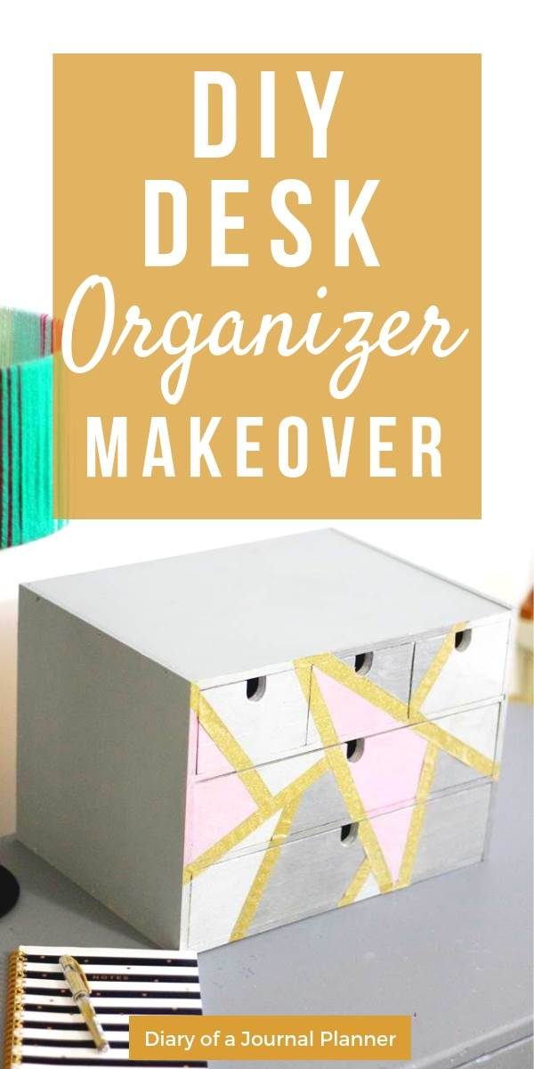 Recycled diy project to renew an old desk organizer IKEA furniture and declutter you craft supplies