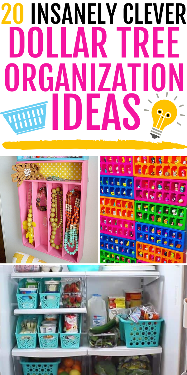 Want to organize your home on the cheap? Check out these genius dollar store organizing ideas!