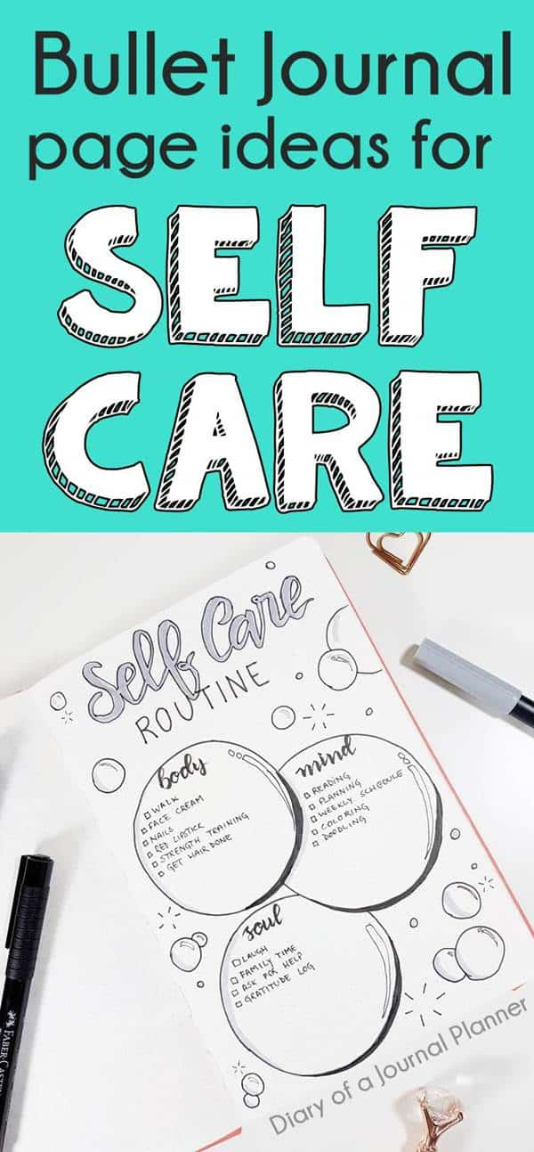 BULLET JOURNAL SELF CARE IDEAS