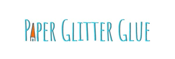 Logo for paperglitterglue and their Free SVG website