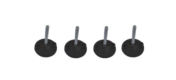 Anti vibration feet for induction casting and melting machine