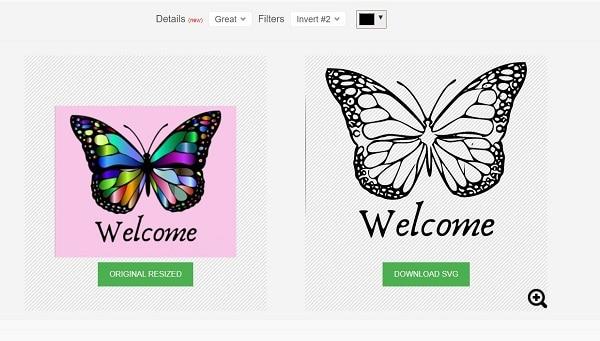 Picsvg online JPG to SVG converter comparison
