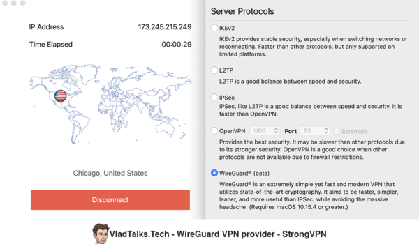 StrongVPN - WireGuard protocol