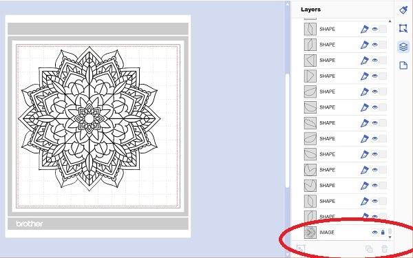 Canvas Workspace Trace Image unlock original image graphic