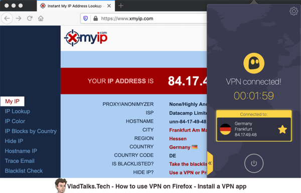 How to use a VPN on Firefox - Install a VPN app