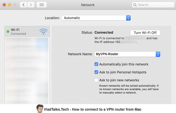 How to connect to a VPN router from Mac