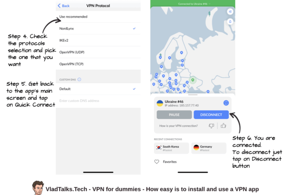 VPN for dummies - how is to connect to a VPN server via NordVPN's app