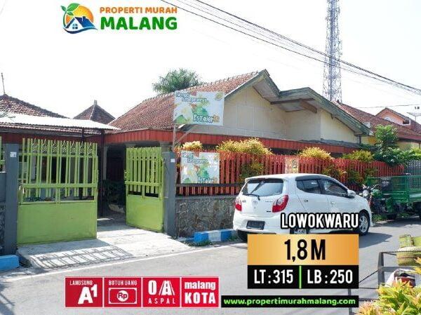 Rumah Luas Dijual Murah Dibawah Harga Pasaran Lowokwaru Pusat Kota Malang