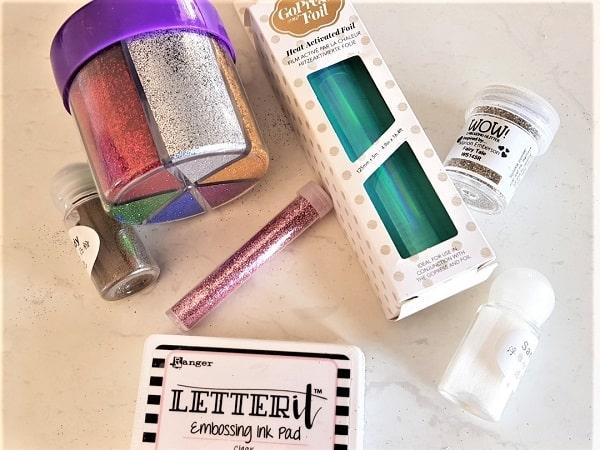 Glitter and embossing main photo