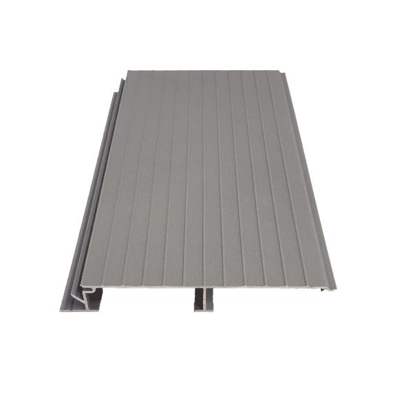 Balcon aluminium gris