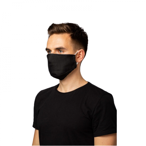 100% Hemp Face Mask - Black
