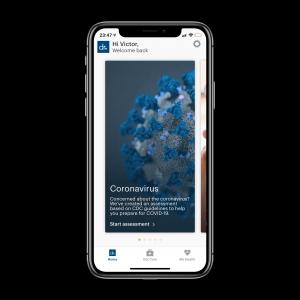 Patients' app: user profile
