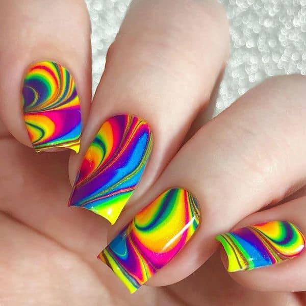 Neon Marble Rainbow