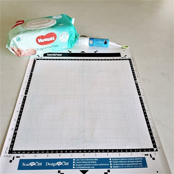 Clean and restick your Scan N Cut mat with alcohol free wipes and Zig glue.
