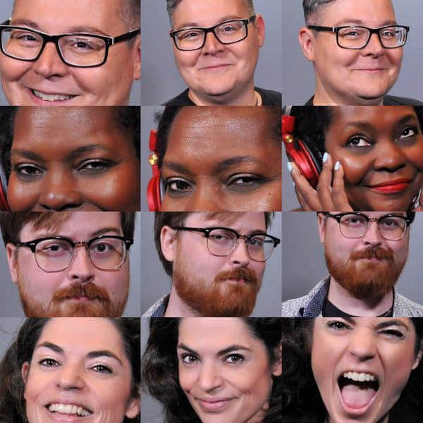 A collage of headshots from our Philadelphia Headshot photo booth