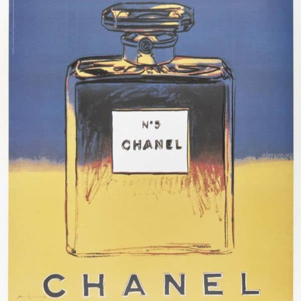 Andy Warhol Chanel No5 Posters at Zebra one gallery