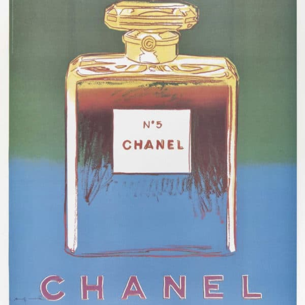 Andy Warhol Chanel No5 ad Posters at Zebra One Gallery