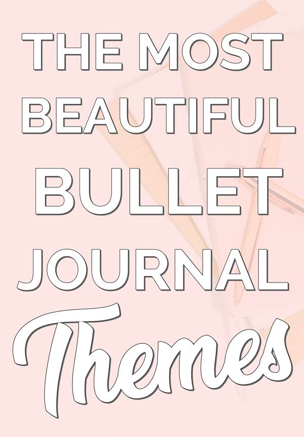 BULLET JOURNAL MONTHLY COVER THEMES