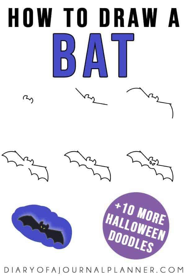 easy bat doodle