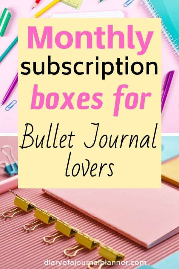 subscription boxes for bullet journal