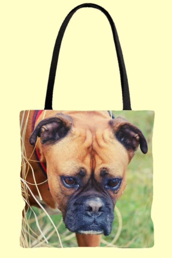Boxer Dog AOP Tote Bag