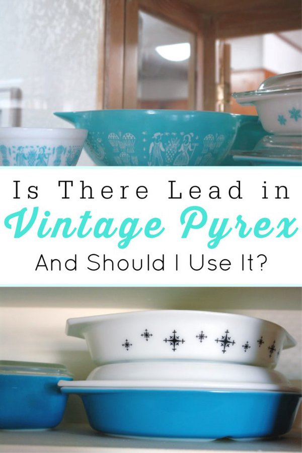 collage of vintage pyrex